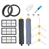 JoyBros Replacement Parts Accessories Compatible for iRobot Roomba 800 900 805 860 890 870 871 880 960 980 981 985 Anti-Skip Rubber Wheel Tires Side Main Roller Brush Filter Replenishment Kit