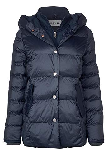CECIL Damen 100532 Mantel, Blau (deep blue 10128), Large (Herstellergröße:L)