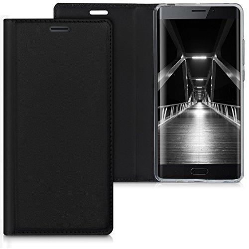kwmobile Xiaomi Mi Note 2 Hülle - Kunstleder Handy Schutzhülle - Flip Cover Case für Xiaomi Mi Note 2 - Schwarz