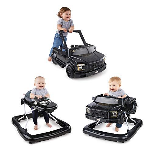 Bright Starts, 3 In 1 Lauflernhilfe, FORD F-150 RAPTOR, Schwarz, in 3 Varianten verwendbar, 2 Kinder können Gleichzeitig Spielen, wächst mit, Ab 6 Monaten
