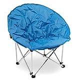 Navaris Silla Redonda Plegable - Asiento para Camping con Bolsa - Silla portátil para Acampada - Silla para el Aire Libre Pesca Playa