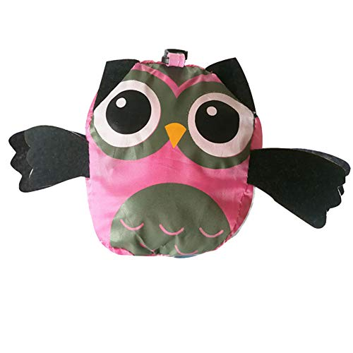 Cupcinu Owl Folding Shopping Bag Reusable Natural Cotton Shopping Bag Waterproof Tote Bag For Grocery Shopping Storage Fruit Vegetable Toys Canvas