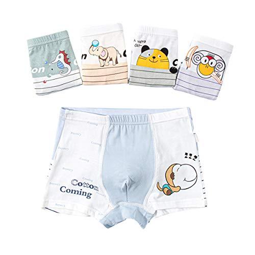 Cotton Coming Jungen Boxershort Kinder Unterhosen Unterwäsche Baumwolle 5er Pack 2-14 Jahre,XL 6-8 Jahre