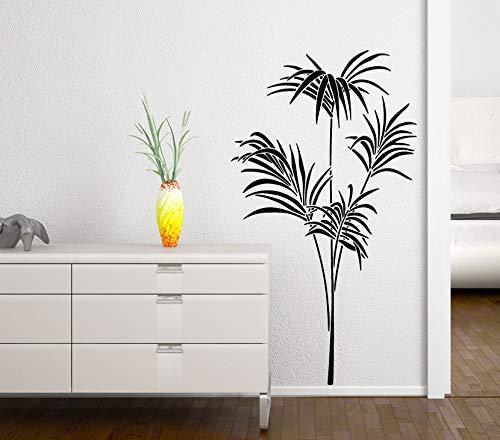 Grandora W122 Sticker mural en forme de palmier Phönix I Rose 58 x 103 cm