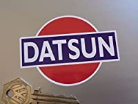 Datsun Rising Sun Sticker ダットサン ステッカー シール デカール 海外限定 85mm x 60mm 2枚セット [並行輸入品]