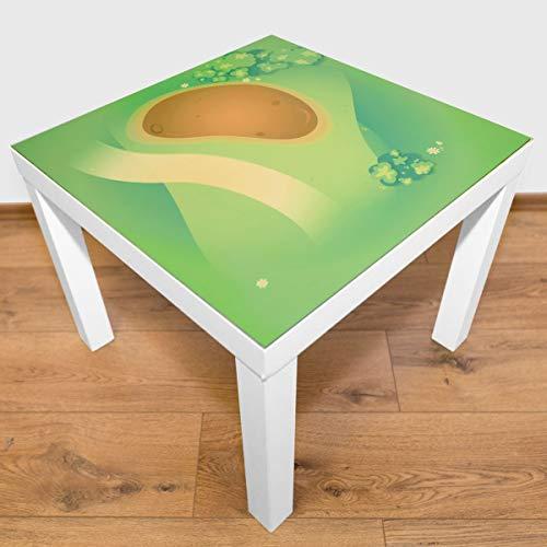 Playmatt Spielmatte für Tisch oder Boden Graslandschaft mit Matsch, schadstofffrei, rutschfest, waschbar, 55 x 55 cm, passt perfekt auf IKEA Lack Tisch