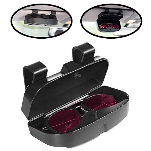 SovelyBoFan Kfz-Sonnenbrillenetui, Brillenetui, Kreditkartenfächer auf der Außenseite, doppelter Schnappverschluss, passend für alle Fahrzeugmodelle, einfache Installation