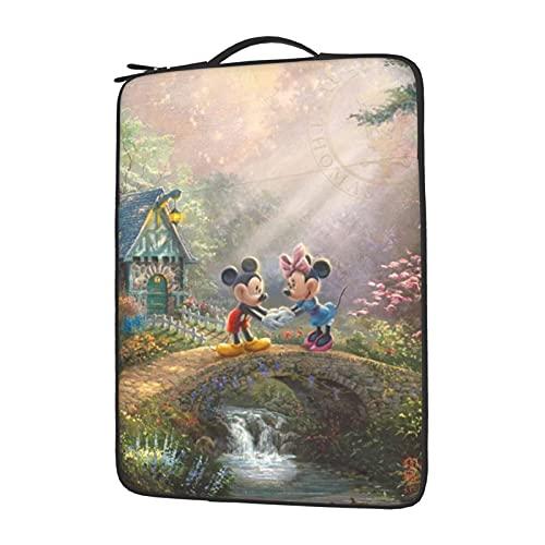 Mickey Minnie Mouse Cartoon Laptop Bag Sleeve Computer Case Tablet Maletín Ultraportable Protector para 13 14 15.6 pulgadas 14 pulgadas
