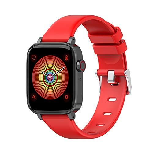Elibeauty Smartwatch für Herren und Damen, Touchscreen, Bluetooth, Smartwatch, wasserdicht, Sport-Fitness-Tracker, Uhr (rot)