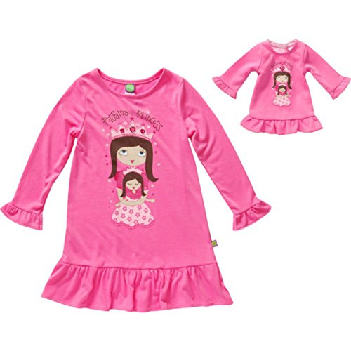 Dollie and Me Nightgown Sleepwear Set with Matching Outfit for 18 Inch Play Doll (5, Pink Princess)
