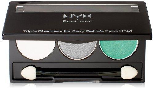 Nyx Cosmetics Trio d'Ombres à Paupières Opal/Platinum Silver/Luster