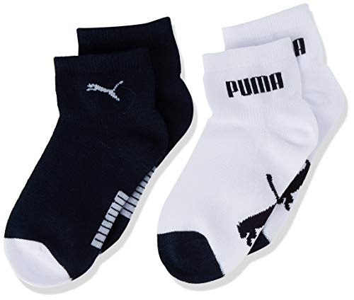 PUMA Baby Mini Cats Lifestyle Socks (2 Pack) Calcetines, new navy/white, 27/30 para Bebés