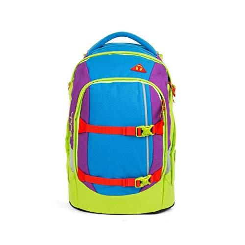 satch Pack Flash Jumper, ergonomischer Schulrucksack, 30 Liter, Organisationstalent, Blau/Grün/Lila