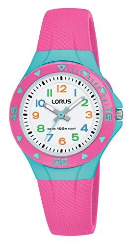 Lorus Kids Mädchen-Uhr Edelstahl und Kunststoff mit Urethanband R2351MX9