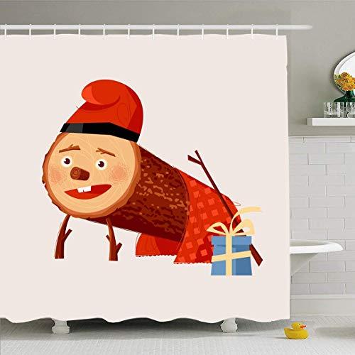 Conjunto de cortina de ducha con ganchos TIO Winter De Beret Nadal Niños Navidad Tradición Tradición Vintage...
