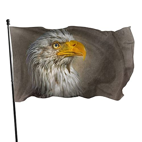 Bald Eagle 3x5 Feet Flag, July 4th Independence Day Usa American Patriotic Memorial Garden Flags For Outdoor Indoor Home Decor