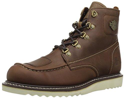 HARLEY-DAVIDSON FOOTWEAR Men's Hagerman Motorcycle Boot, Brown, 9 Medium US