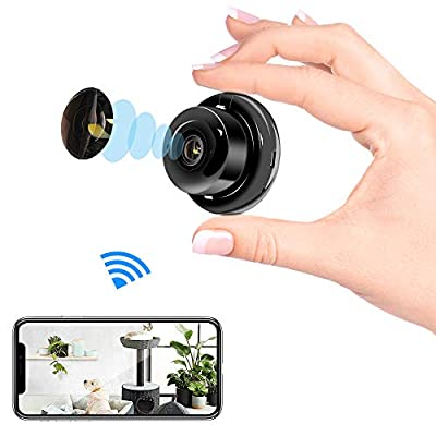 Veroyi Mini IP Camera WiFi Home Security Surveillance Nanny Camcorder with 2 Way Audio Motion Detection Night Vision