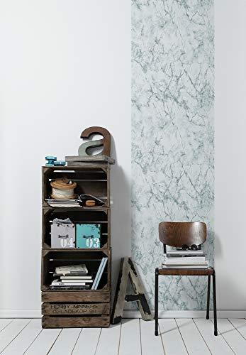 Livingwalls zelfklevend paneel Pop.up Panel 3D in marmer-look 2,50 m x 0,52 m wit grijs Made in Germany 368421 36842-1