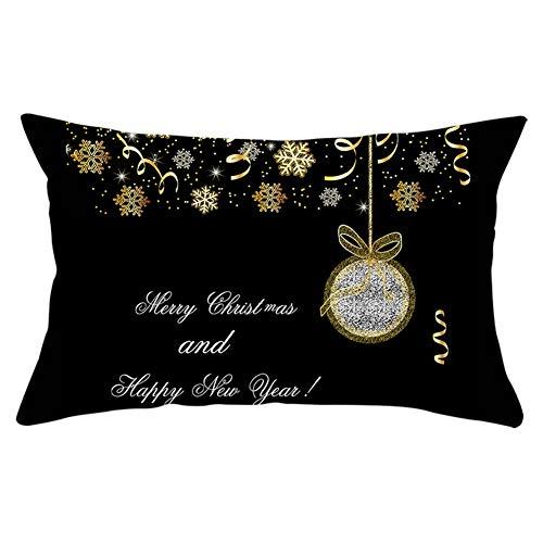 Fundas de Cojines Throw Pillow Case Copo de nieve de Navidad negro Cojines Decoracion Terciopelo Suave Fundas de Almohada...