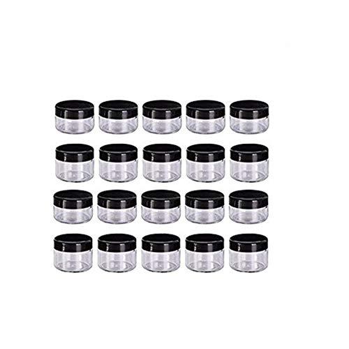 Envases para Cosmetica,Worsendy Envases para Cosmetica,Contenedores de plástico Bote Tarro de Viaje Set con Tapa para Almacenaje de Maquillaje Cremas Muestras, 5, 10, 15 y 20 Gramos (5g)