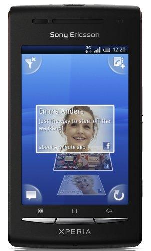 Sony Ericsson Xperia X8 Smartphone (7,62 cm (3 Zoll) Bildschirm, Touchscreen, 3 Megapixel Kamera, Android OS) schwarz