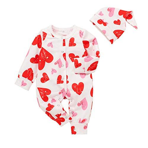 YAAY Baby Valentinstag Overall Hut Set Neugeborene Säugling Jungen Mädchen Liebe...