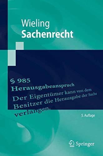 Sachenrecht (Springer-Lehrbuch)
