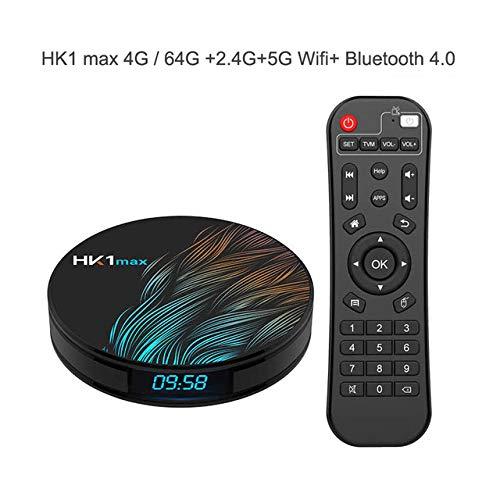 Alician RK3328 Smart TV Box Android 9.0 Smart TV Box Google Assistant Receptor de TV 4K
