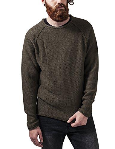 Urban Classics Raglan Wideneck Sweater Felpa, Verde (Olive 176), M Uomo