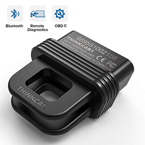 Thinkcar 1S OBD2 Scanner Bluetooth Full Systems Scan Tool for iOS & Android Check Engine Light Code Reader Real Time Remote Diagnostic