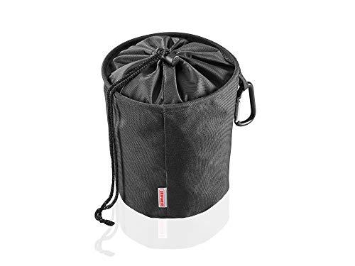 Leifheit Wäscheklammerbeutel mit Haken zum aufhängen, für bis zu 100 Wäscheklammern, schmutzsicherer Klammerbeutel für frische Wäsche, Klammerkorb aus engmaschigen Stoff, peg bag, schwarz