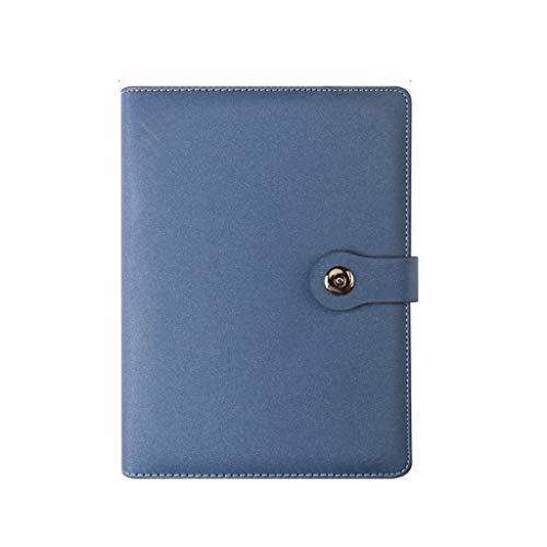 Dzwyc Taccuino A5 Fogli mobili Notebook for la Fascia Alta Business Notebook for Thick Ufficio a Fogli Libro Verbale Memo Pad Blocchi Appunti (Color : Blue)