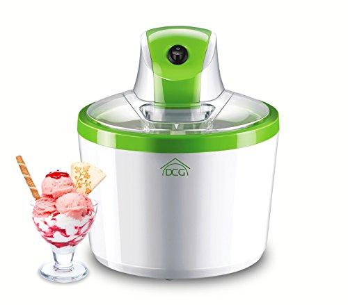 Gelatiera per gelato fatto in casa DCG IC4988 professionale capacità 1200ml. MEDIA WAVE store ®