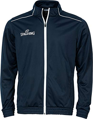 Spalding Kinder Team WARM UP Jacke, Marine/Weiß, 164