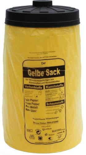 Will-Jeder 2. Wahl - Sacktonne gelb für den gelben Sack - Deckel nach Verfügbarkeit, vorwiegend schwarz