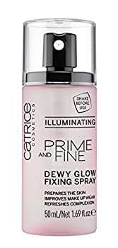 Catrice   Prime & Fine Illuminating Dewy Glow Spray   Transparent and Fast Drying Fixing Spray  Paraben Free & Vegan   Cruelty Free  Pack of 1