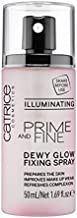 Catrice | Prime & Fine Illuminating Dewy Glow Spray | Transparent and Fast Drying Fixing Spray| Paraben Free & Vegan | Cruelty Free (Pack of 1)