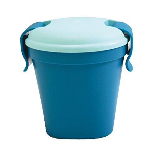Curver Becher Lunch & Go Größe S in dunkelblau/hellblau, Kunststoff, blau, 11x11x11 cm