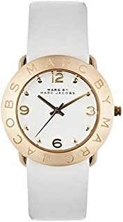 Marc Jacobs Women's Quartz Watch With Leather Mbm1150, White Band, Analog Display