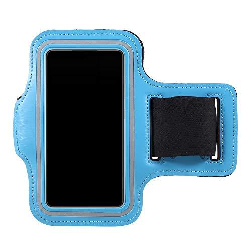CoverKingz Funda universal deportiva para teléfono móvil, para todos los smartphones de 4,5 a 5,85 pulgadas, con compartimento para llaves, color azul claro