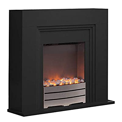 Warmlite Electric Fireplace Suite with Adjustable Thermostat Control