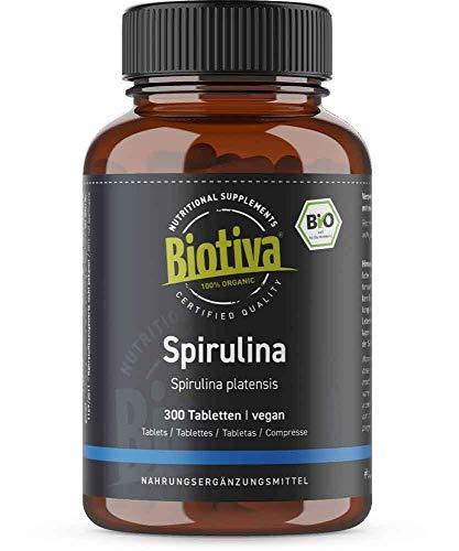 Spirulina Bio - 300 pastiglie - 500 mg - qualità massima biologica - pastiglie ad alta dose - alga arthrospira platensis - imbottigliato e controllato in Germania (DE-eco-005)