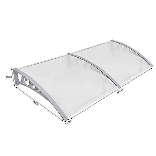 Haustürvordach Türvordach Haustürdach Pultvordach Überdachung Vordach Sonnenschutz Regenschutz Vordach 7 Größe (100x200)