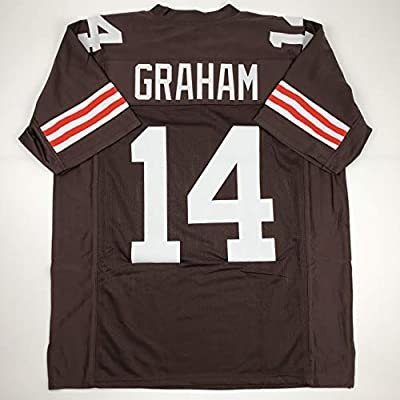 Unsigned Otto Graham Cleveland Custom Stitched Brown Football Jersey Size Men's XL New No Brands/Logos
