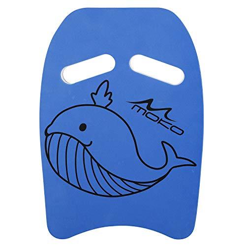 MoKo Tabla de Natación de PE con Patrón de Dibujos Animados, Tablero Flotante para Entrenamiento de Natación, Herramienta Segura de Aprendizaje para Deportes acuáticos para Niños, Azul