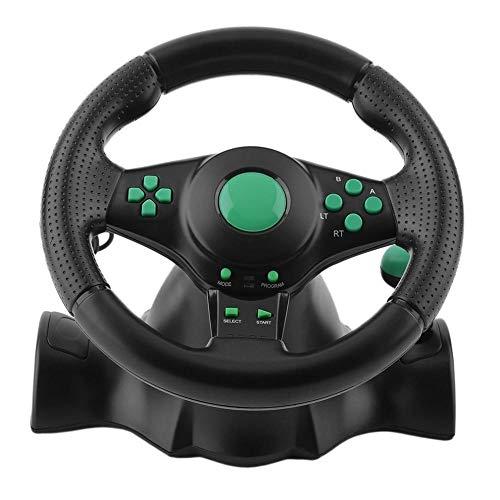 Gaming-Lenkrad mit Pedalen für Xbox 360, PS2, PS3, PC, USB, 140 cm, schwarz