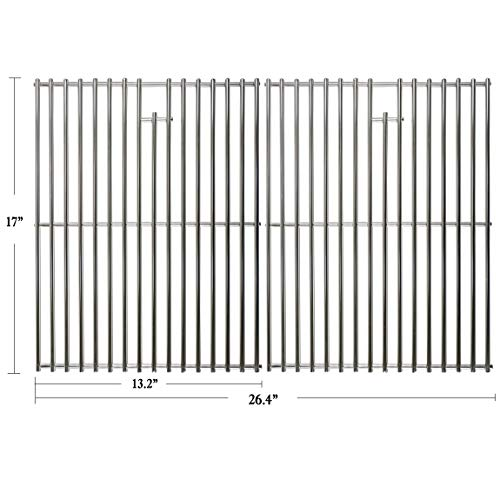 Hisencn 17 inch Grill Cooking Grates Replacement Parts for Home Depot Nexgrill 720-0830H, 720-0830D, Nexgrill 720-0783E, 720-0783C, Kenmore, Uniflame Gas Grils, 17' Stainless Steel Cooking Grids