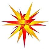 Herrnhuter Sterne, Stern für Außenbereich 68cm, rot/gelb