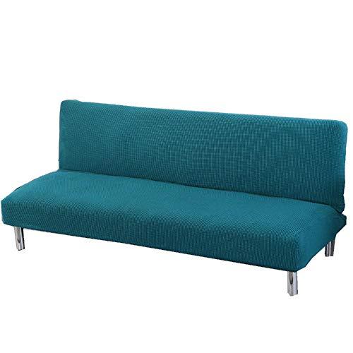 LFJY YXLM Corn Fleece Solid Color Schlafsofa Abdeckung Sofa-Abdeckung Volldeckung ohne Armlehne Folding Anti-Rutsch-Sofa-Abdeckung,Blue